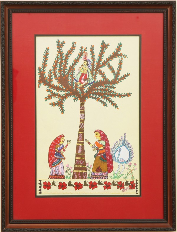 Krishna OnTree With Gopis